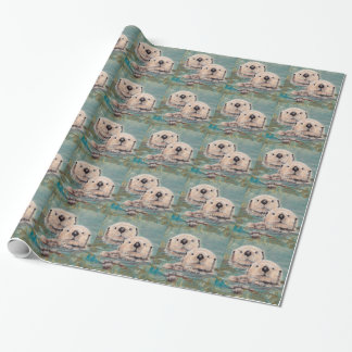 Sea Otters Wrap Wrapping Paper