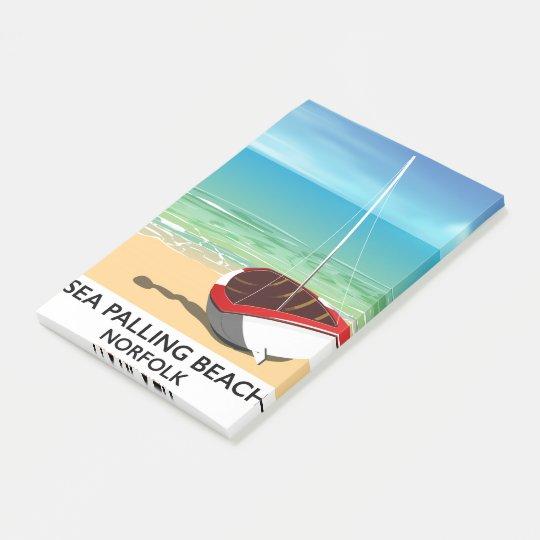 Sea Palling Beach Norfolk beach poster Post-it Notes