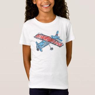 Sea Plane Girls' Bella Fitted Babydoll T-Shirt