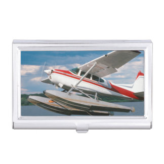 Sea Plane Taking Off, Victoria Falls, Zimbabwe Business Card Holder