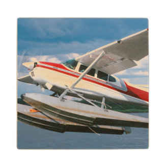 Sea Plane Taking Off, Victoria Falls, Zimbabwe Wood Coaster