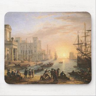 Sea Port at Sunset, 1639 Mouse Mat