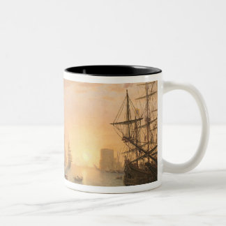 Sea Port at Sunset, 1639 Two-Tone Coffee Mug