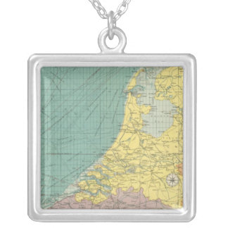 Sea ports of England Silver Plated Necklace