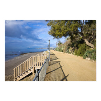 Sea Promenade along Costa del Sol in Spain Art Photo
