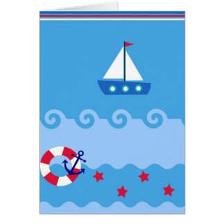 Sea Sailboat Greeting Card with place for you text