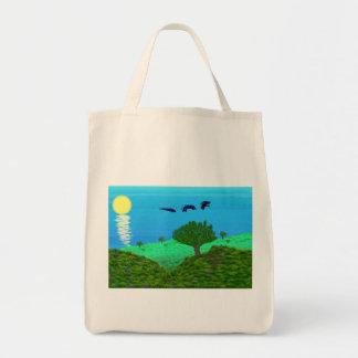 Sea Serpent Landscape Tote Bag