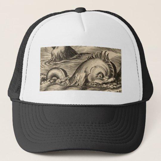 Sea Serpent Riding a Wave Cap