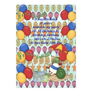 Sea Shell 2nd Birthday Personalized Invitations
