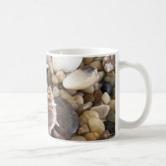 Sea Shell Background Basic White Mug