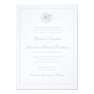 Sea Shell Beach Wedding | Traditional Invitation