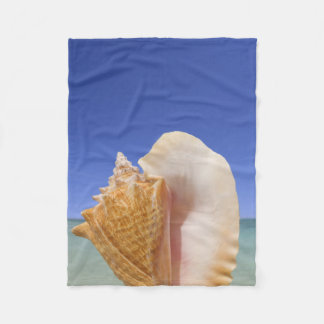 Sea Shell Close Up Fleece Blanket