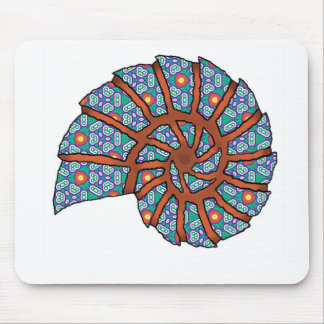 Sea Shell Digital Stencil Collage - 09 Mouse Pad