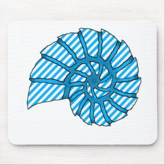 Sea Shell Digital Stencil Collage - 11 Mousepad