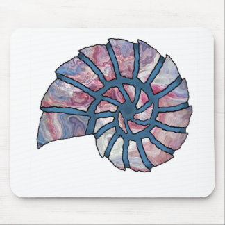 Sea Shell Digital Stencil Collage - 12 Mousepads