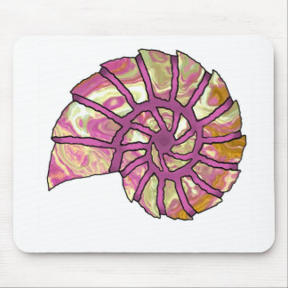 Sea Shell Digital Stencil Collage - 15 Mouse Pad