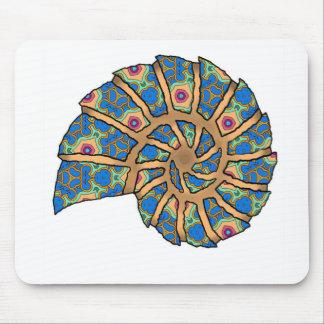 Sea Shell Digital Stencil Collage - 20 Mousepads