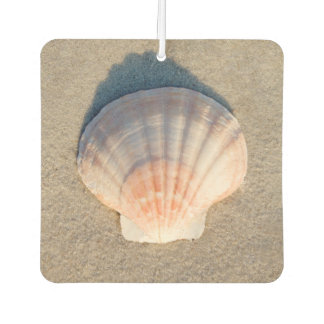 Sea Shell Laying On Sandy Beach Car Air Freshener