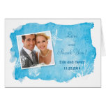 Sea Shell on Watercolor Wedding Thank You Card