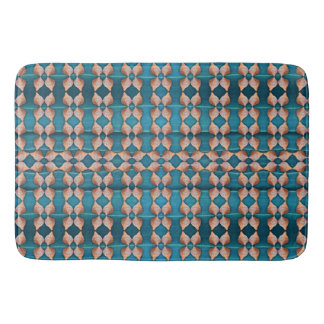 Sea Shell Pattern, Blue Bath Mat