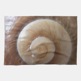 sea shell photograph tea towel