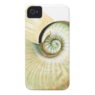 Sea shell vintage illustration iPhone 4 cover