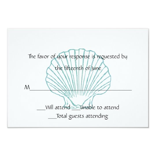 Sea Shell Wedding Response Card