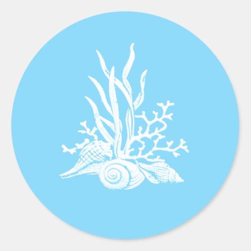 Sea Shell Wedding Stickers