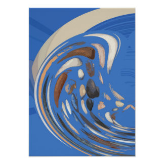 SEA SHELLS ABSTRACT 2 POSTER