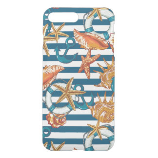 Sea Shells And Anchor Pattern iPhone 8 Plus/7 Plus Case