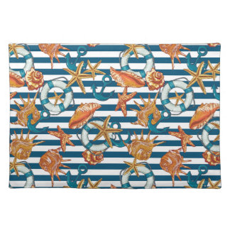 Sea Shells And Anchor Pattern Placemat