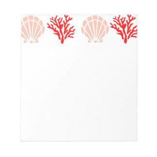 Sea Shells and Coral Notepad