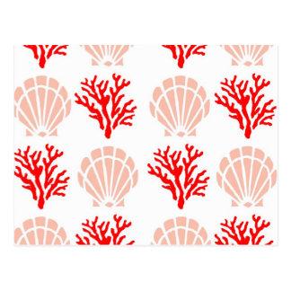 Sea Shells and Coral Postcard