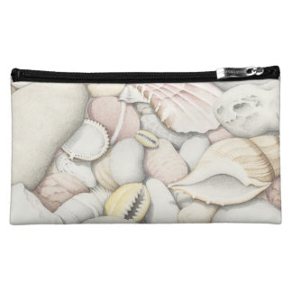 Sea Shells and Pebbles in Coloured Pencil Cosmetic Bag