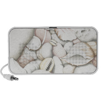 Sea Shells and Pebbles in Coloured Pencil Mp3 Speakers