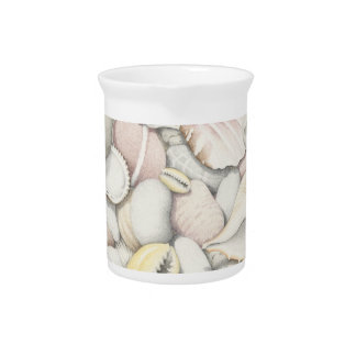 Sea Shells and Pebbles in Coloured Pencil Pitcher