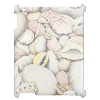 Sea Shells and Pebbles in Pencil iPad Case