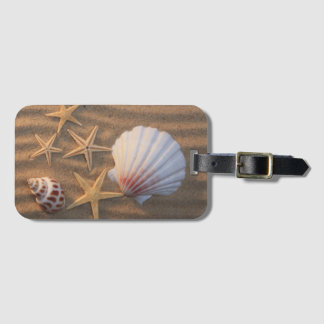 Sea Shells And Starfish Luggage Tag