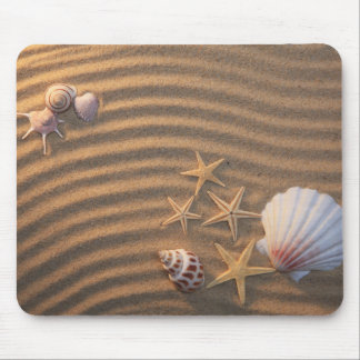 Sea Shells And Starfish Mouse Mat