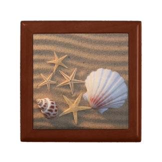 Sea Shells And Starfish Small Square Gift Box