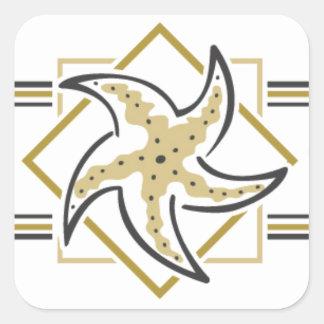Sea Shells and Starfish Square Sticker