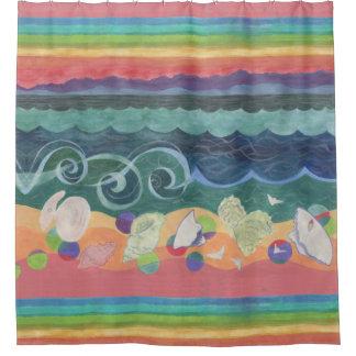 Sea Shells at Sunset Shower Curtain