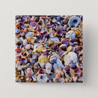 Sea Shells By The Sea Shore 15 Cm Square Badge