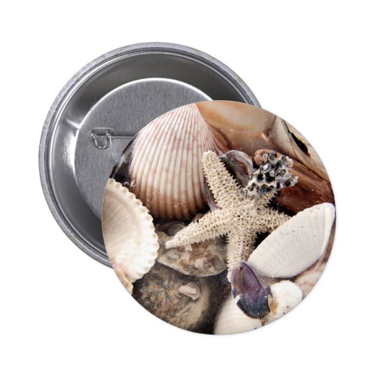 Sea Shells by the Shore 6 Cm Round Badge