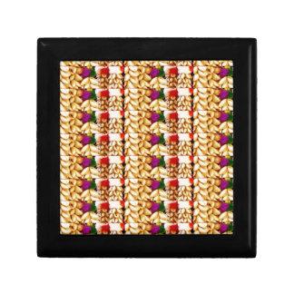 SEA SHELLS n FLOWER Decorations: ETHNIC ART Trinket Box
