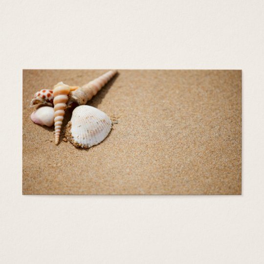 Sea shells on the beach business card