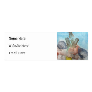 Sea Shells on the Sea Bed. Business Card