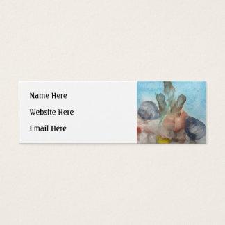 Sea Shells on the Sea Bed. Mini Business Card
