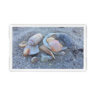 Sea Shells Paradise Beach Acrylic Tray