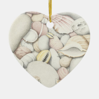 Sea Shells & Pebbles Best Friends Heart Ornament